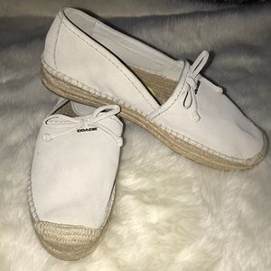 Coach espadrilles cream color